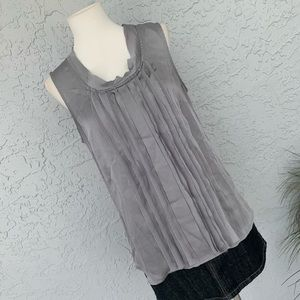 $12! Anthropologie | Adiva |Gray Sleeveless Blouse